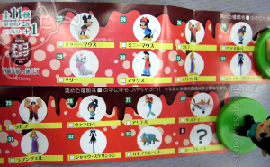 CHOCO-EGG Disney part 3 (Furuta /2013)Check List