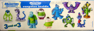Zaini Chocolate Egg / Monsters University / Line up