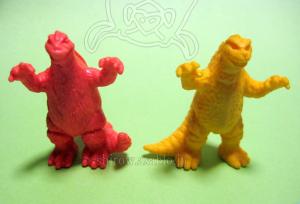 東宝怪獣勢揃い!!怪獣大集合パート2(ゴジラ消しゴム/80年代)ゴジラのバージョン違い比較