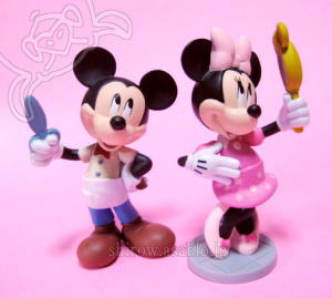 Disney Store Figurine PlaySet / Minnie / Mickey Mouse and Minnie Mouse
