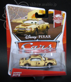 Disney PIXAR CARS /2013 Rusteze Racing #7/8 DONNA PITS