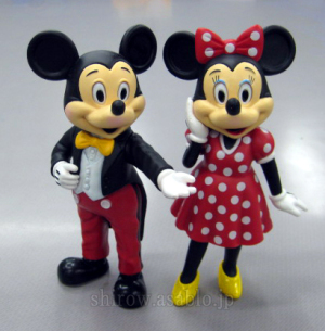 Mickey Mouse and Minnie Mouse / Park Style Figure (ATA International Co.,Ltd)