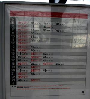 日輪本線 (大分、小倉方面時刻表)