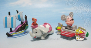 Disney Collector Packs series-1 / Peter Pan ride, Dumbo ride, Astro Orbiter.