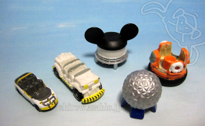 Disney Collector Packs series-1 / Test Track car, Kali River Rapids, Spaceship Earth, Earful Tower, CTX vehicle.
