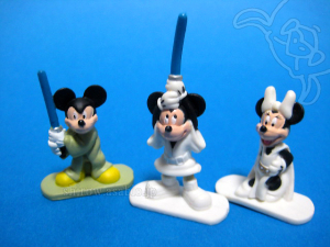 Disney Collector Packs series-4 / Mickey as Luke Skywalker, Jedi Mickey, Minnie as Princess Leia