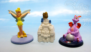 Disneyland WDW Collector Packs Series-2 / Tinkerbell, Cinderella's Castle, Figment