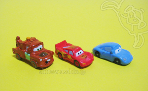 Disneyland  Walt Disney World Collector Packs Series-6 /Cars - Lightning McQueen, Mater, Sally Carrera.