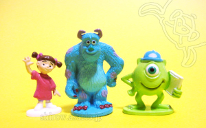 Disneyland · Walt Disney World Collector Packs Series-6 /Monsters Inc. - Sully, Mike, Boo