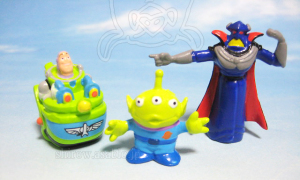 Disneyland · Walt Disney World Collector Packs Series-6 /Toy Story Space Ranger Spin - Buzz in SRS Vehicle, LGM, Zarg