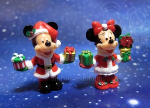 DLR-WDW Disney Collector Packs Series-7/ Santa  Mickey, Santa  Minnie