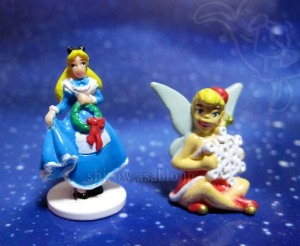 DLR-WDW Disney Collector Packs Series-7/ Holiday Alice in Wonderland, Santa Tinker Bell