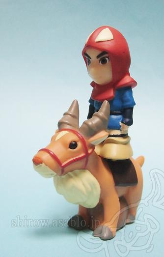 もののけ姫指人形/ヤックルはアシタカを乗せられる