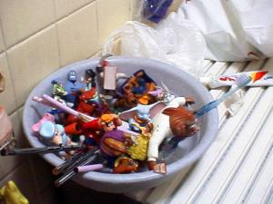 入浴と玩具洗浄