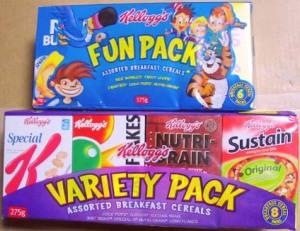Kellogg's Fun pack & Variety pack (Australlia)