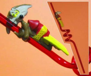 Figurine with drinking straw /Looney Tunes - Wile.E.Coyote / Applause