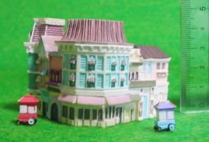ジオラマアイテム/ ストリートハウス(マーケットハウス、ディズニーショーケース)&ワゴン