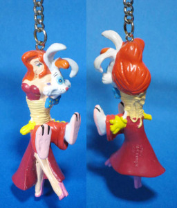 keychain figure / Who Framed Roger Rabbit / Roger Rabbit and Jessica Rabbit / by Applause (1987)