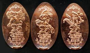 Souvenir Medal/ TDR 25th / Pinocchio