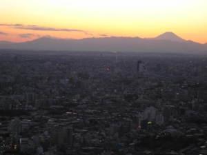 2009/1/3夕焼けと富士山