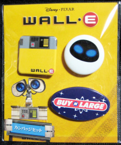 WALL-E / Tin Button set / TOHO - GENDAI (Japanese Theater Original Item)