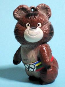 Keychain  figure/ OLYMPICS MASCOT MISHA BEAR
