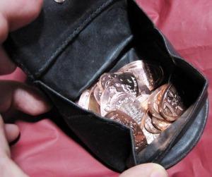 小銭入れいっぱいのスーベニアメダル