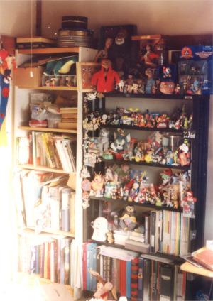 2001年ごろの仕事場本棚、コレクション棚