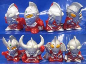 指人形/マントつきウルトラマン兄弟(マン、セブン、ゾフィー、新マン、A、タロウ、父、母)