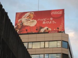 コカ・コーラのサンタ看板