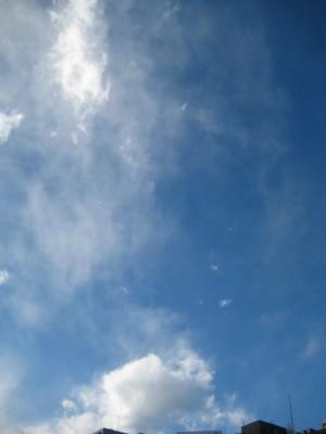 水彩画のような青空