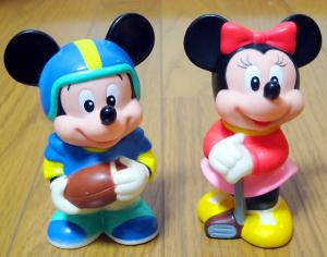 三菱銀行貯金箱/ミッキーマウスとミニーマウス(1988)