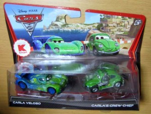 CARS 2 /CARLA VELOSO and CARLA'S CREW CHIEF / Kmart exclusive / by MATTEL