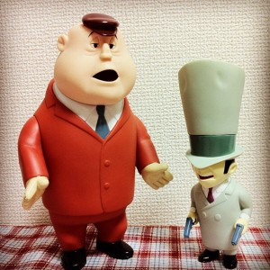 Soft Vnyl Figurine / Rocky and Mugsy / Warner Brothers Studio Store