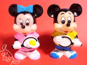 三菱銀行貯金箱/ミッキー・マウス&ミニー・マウス<テニス>(1983)