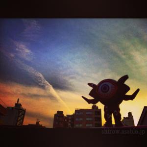 夕空とガンQ