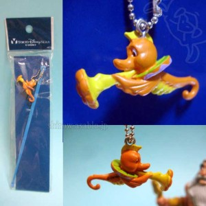 "Ear picks with figurine / Harold The Seahorse from ""The Little Mermaid""/Tokyo Disney Sea (2001)"