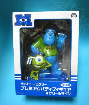 Disney ・ PIXAR Premium Buddy Figure / Mike & Sully (Monsters University)/ by SEGA
