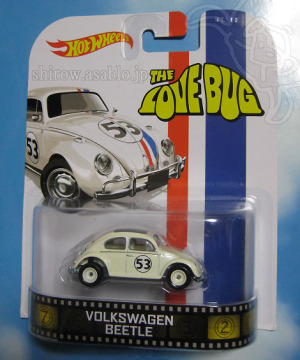 Herbie The Love Bug Volkswagon Beetle / Hot Wheels 1:64 - Retro Entertainment