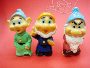 Pencil Sharpener Figurine / Snow White and the Seven Dwarfs / Doc, Grumpy, Dopey / TAKEUCHI (JAPAN)