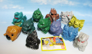 Finger Puppet series / GODZILLA CLUB Part-1 (1992/ BANDAI)