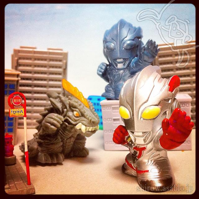 指人形/ウルトラマンXとデマーガとウルフェス限定ユナイトブルーver.