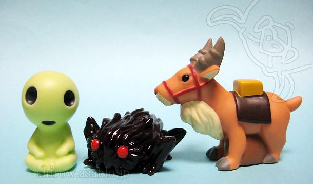 ジブリがいっぱい指人形/もののけ姫/コダマ、タタリ神、ヤックル
